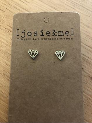 Diamond earrings - gold