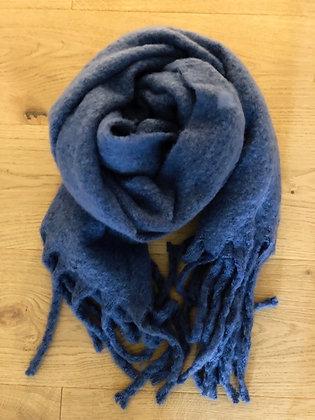 Winter soft blue scarf
