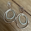 Thumbnail: Rose silver doubles earring