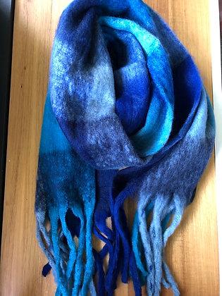 Winter scarf - blues