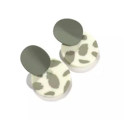 Khaki trend earrings