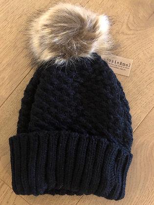 Black winter beanie