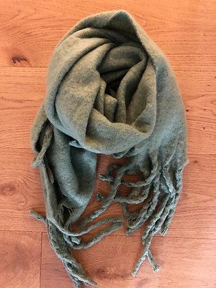 Winter soft Green scarf