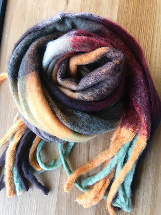 Orange thick winter scarf
