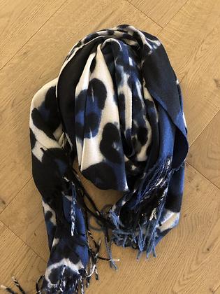 Blue leo scarf