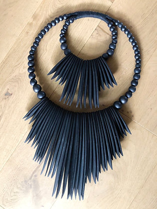 Double cuttle black wallhanging