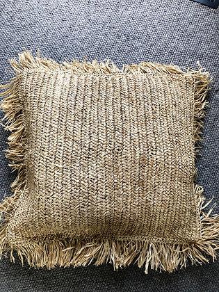 Raffia cushions - medium square