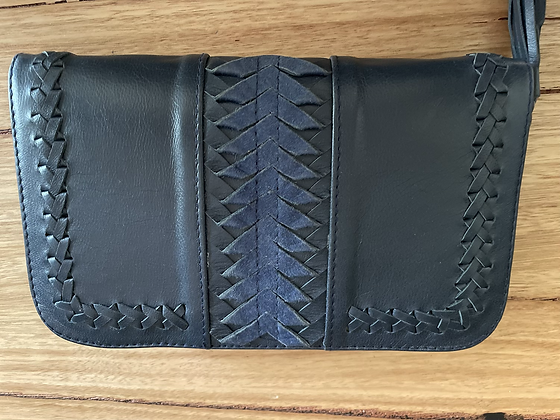 Navy leather purse
