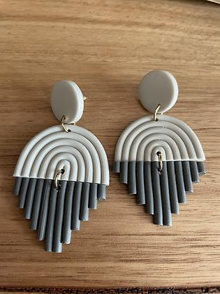 Grey rain earrings
