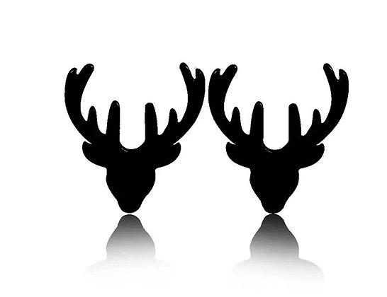Xmas antler earrings - black