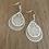 Thumbnail: Gold double earrings