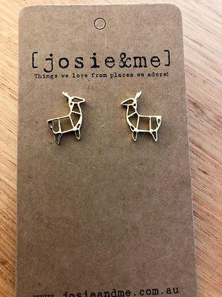 Xmas deer earrings - gold