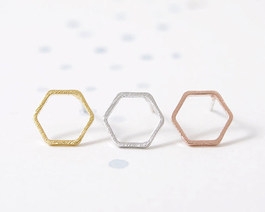 HEXI earrings - Rose gold, gold and silver