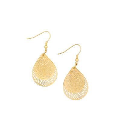Gold double earrings
