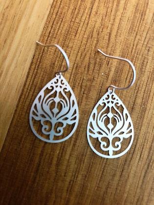 Deli silver earrings