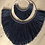 Thumbnail: Black double fringed wallhanging