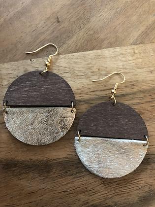 Half - bronze earrings