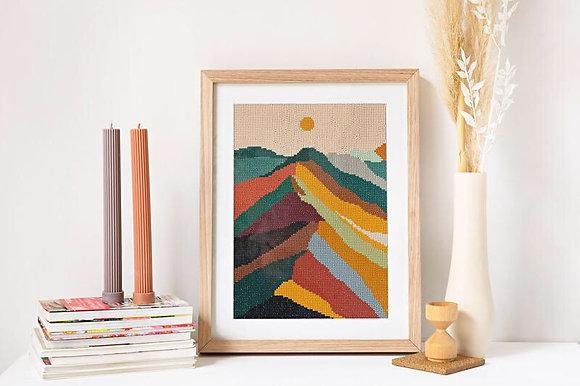Diamond art - mountain