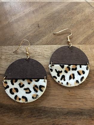 Half - leopard earrings