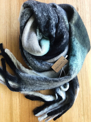 Green thick winter scarf