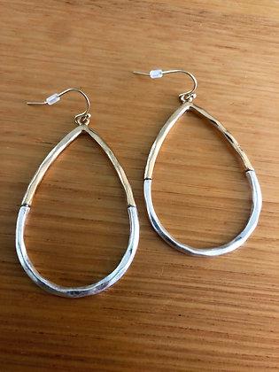 Hammered mod earrings
