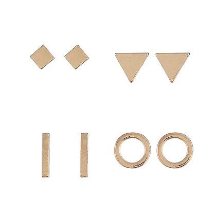 Gold shape earring