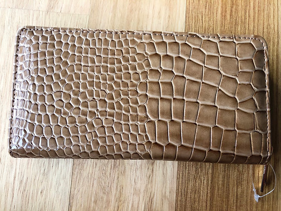 Tan snake purse