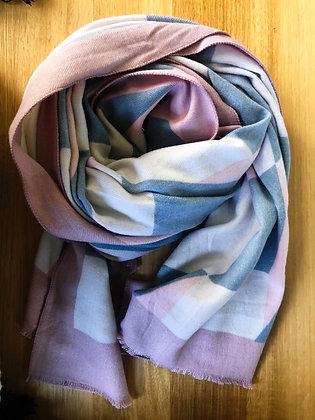 Pink/grey geo scarf