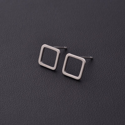 Mini square earrings - Rose Gold, gold, silver and black