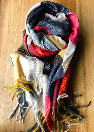 Gorge winter scarf - reds