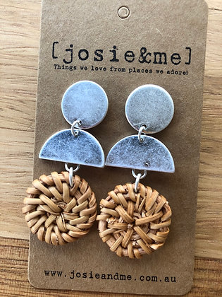 Cane mix earrings
