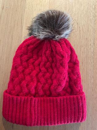 Red winter beanie