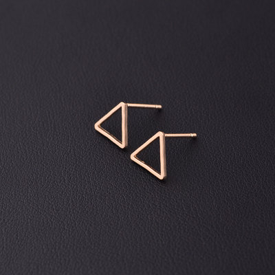 Mini triangle earrings - Rose gold, gold, black and silver