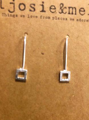Petite square earrings