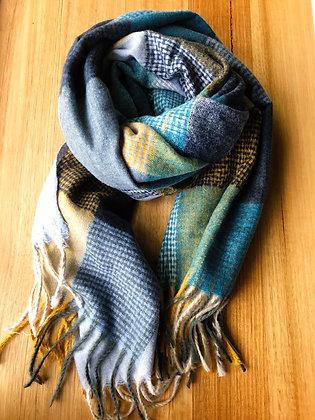 Gorge winter scarf - blues