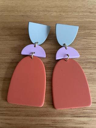Copy of Blue/black hang earrings