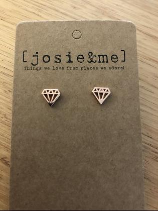Diamond earrings - rose gold