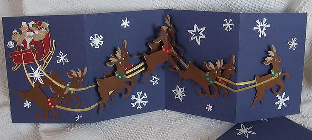 pop up paper engineering cut paper reindeer rudolph