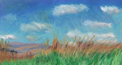 pastel Tall Grass Prairie National Preserve (Kansas)