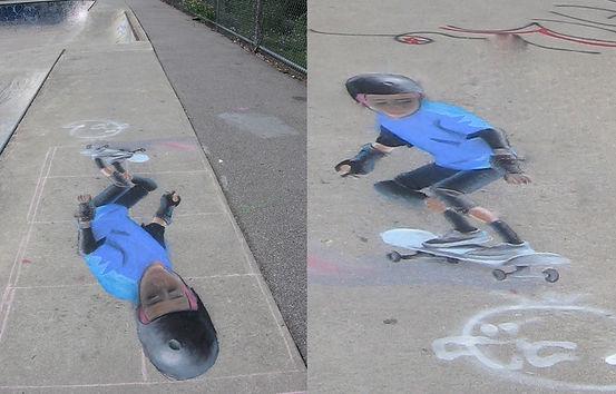 Greenhill park skater helmet amphoric perspective, Worcester, MA, skateboard