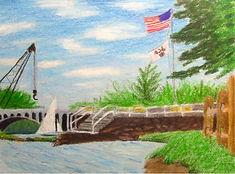 lake, massachusetts department of conservation and recreation regatta sailboat flag bridge construction