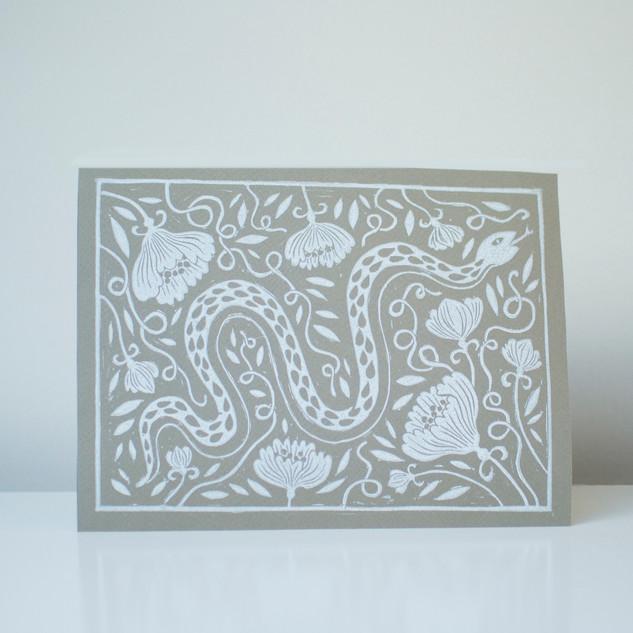 Snake print beige