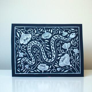 Snake print navy