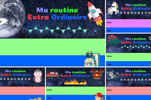 Kit Routine journalière Magnétique + Pictogrammes + Pochette de rangement