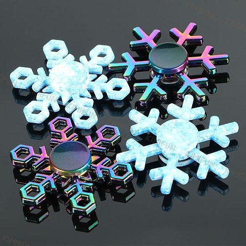 1 Hand spinner Flocon de neige