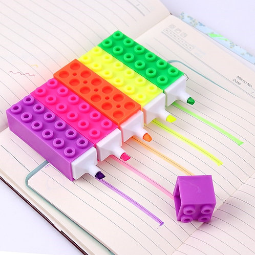 Marqueur fluo forme lego