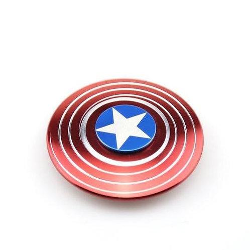 Hand spinner Captain America + boite de rangement métal