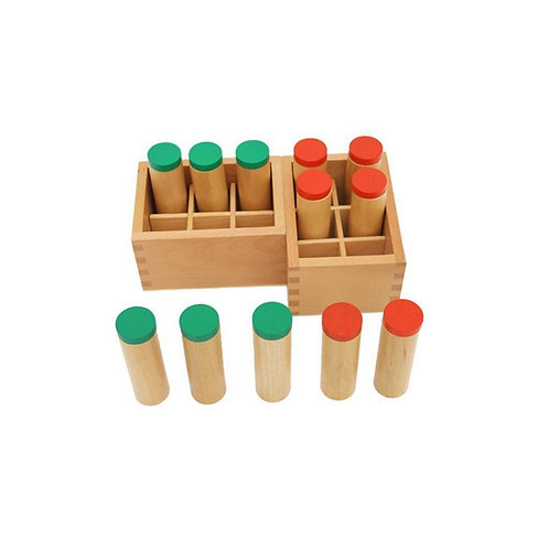 Lot de 2 boîtes à sons Montessori