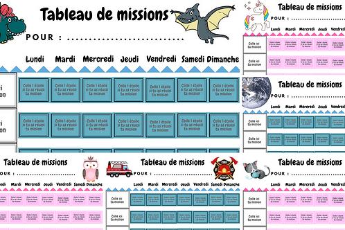 Kit Tableau de missions Magnétique Initiation à