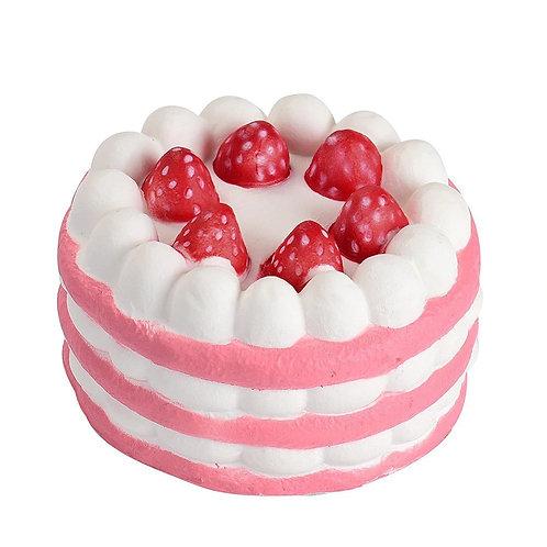 Gâteau Fraisier anti stress + cordon d'attache